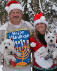 ugly Christmas sweaters and Hanukkah sweaters